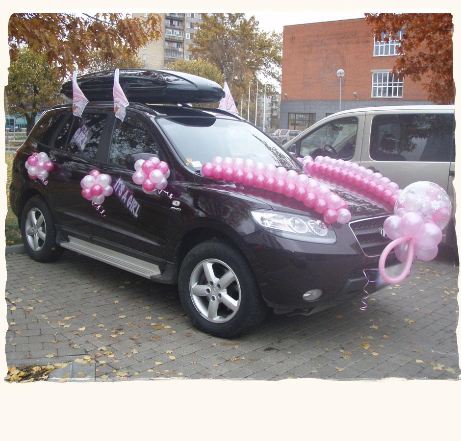 Свадебные машины украшение шарами фото